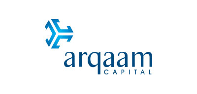 Blue arqaam capital logo
