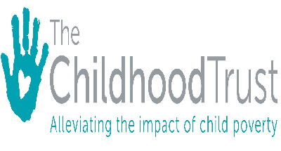 The childhood trust poster in support of child poverty
